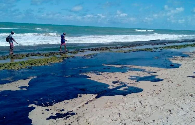 Praia do Forte é atingida por óleo que afeta litoral do Nordeste