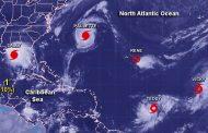 Pela 2ª vez na história, Atlântico Norte tem 5 ciclones ao mesmo tempo