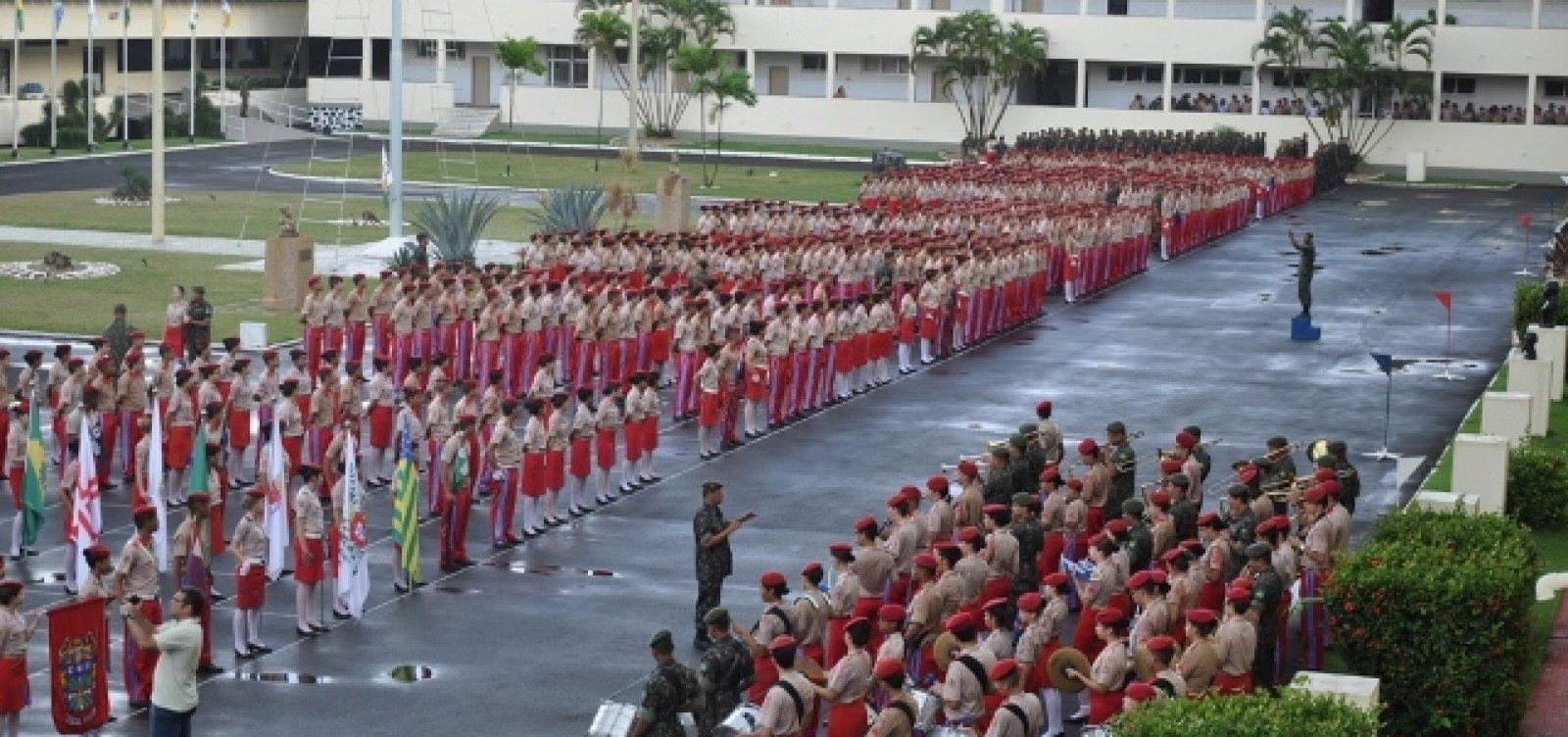 Colégios Militares recebem orientação para retornar às aulas no dia 21