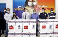 Bahia recebe 376 mil vacinas; distribuição é inciada